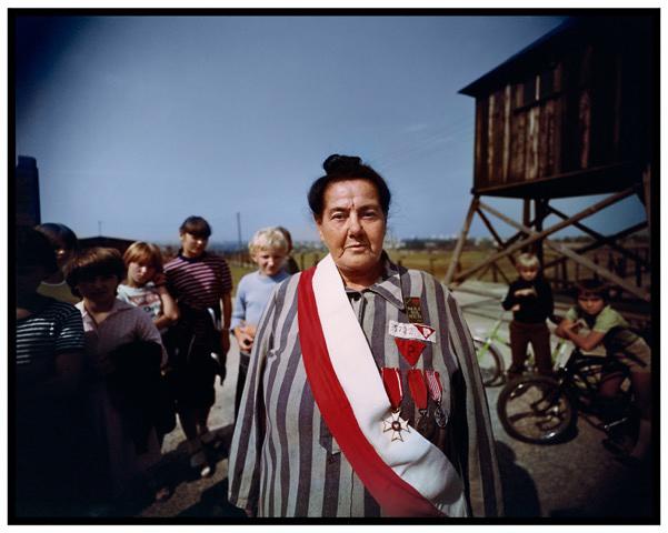 James Friedman, Survivor of three Nazi concentration camps, survivors' reunion, Majdanek concentration camp, near Lublin, Poland, 1983. Photograph, 16 x 20 inches. Courtesy of the artist