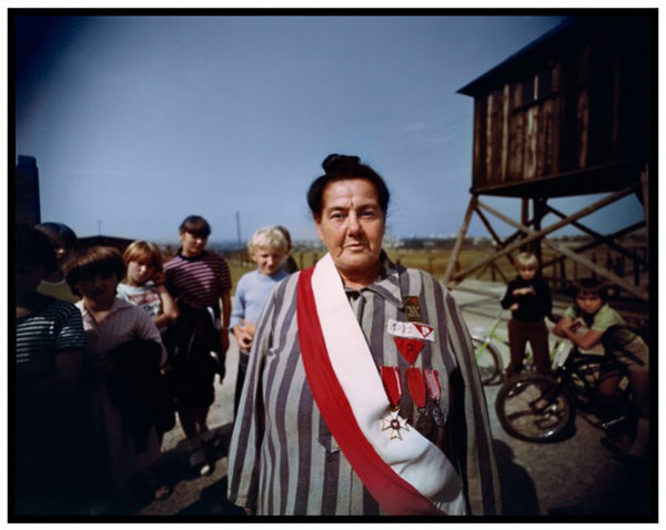 James Friedman, Survivor of three Nazi concentration camps, survivors' reunion, Majdanek concentration camp, near Lublin, Poland, 1983. Photograph, 16 x 20 inches. Courtesy of the artist
