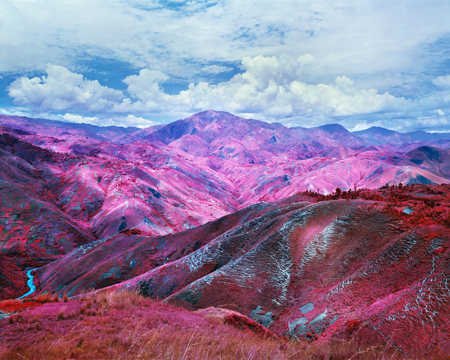 Richard Mosse, Remain in Light, 2015. Digital c-print, 40 x 50 inches. © Richard Mosse. Courtesy of the artist and Jack Shainman Gallery, New York