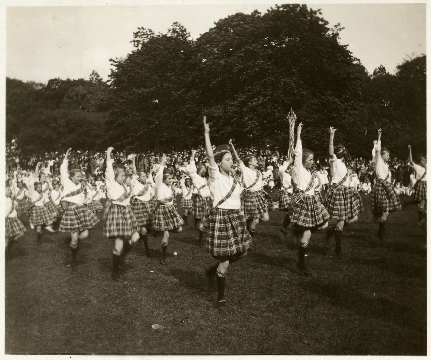 Felix J. Koch, Celtic Dance at May Day Celebration, May, 1921. Gelatin silver print, 4 x 5 inches. Courtesy of Cincinnati Museum Center History Library and Archives