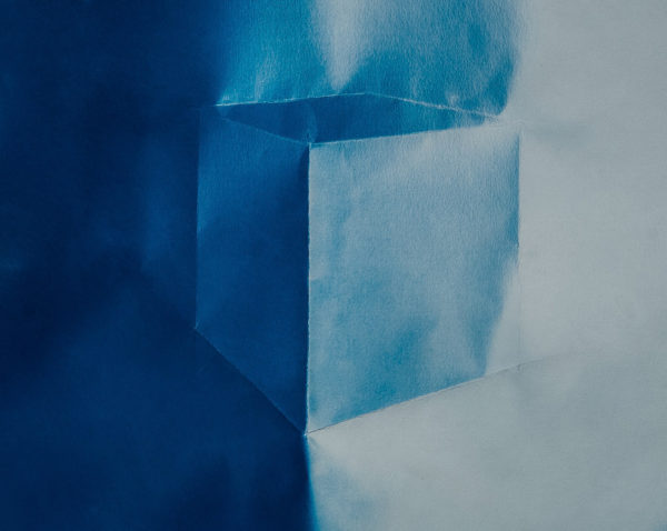 William Knipscher, Where the Light Goes (PS_cube_01), 2015. Cyanotype, 11½ x 16½ inches. Courtesy of the artist and The Carnegie, Covington, KY